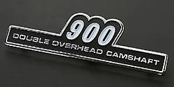 "81-1230 Z1 Side Cover Emblem ""900"" Type A"