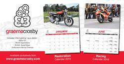 Croz 2019 Racing and restoration Calendar set.